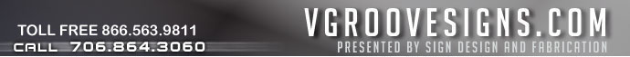 www.VgrooveSigns.com home page.